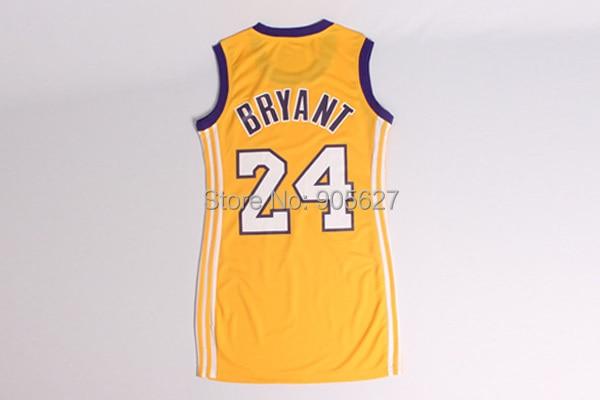 Kobe Bryant Women Basketball Dress ,#24 Kobe Bryant Yellow purple lady jersey Women's basketball jersey sexy dress