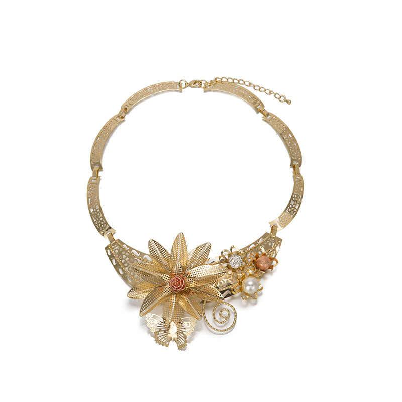 BAUS Dubai phù hợp với đồ trang sức hoa loại Vàng màu trang sức bộ Nigeria wedding Beads phi ethiopia vàng phụ kiện Cô Dâu