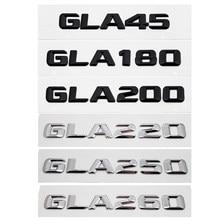 GLA Automobiles Exterior Etiqueta para Mercedes Benz AMG W205 W221 W168 GLA45 GLA180 GLA200 ABL 220 250 260 Emblema Da Cauda 3M Emblema