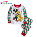 Fashion Christmas Clothes Sets 2017 New Fashion Baby Boys Girls Clothes T-shirt + Casual Long Pants 2pc Kids Clothing Sets