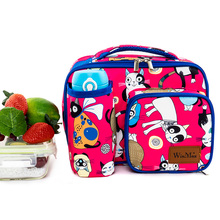Cartoon Cooler Lunch Bags for Kids Children Cat Print Thermal Insulated Lunchbox Multifunction Food Picnic BagStorage Icepack