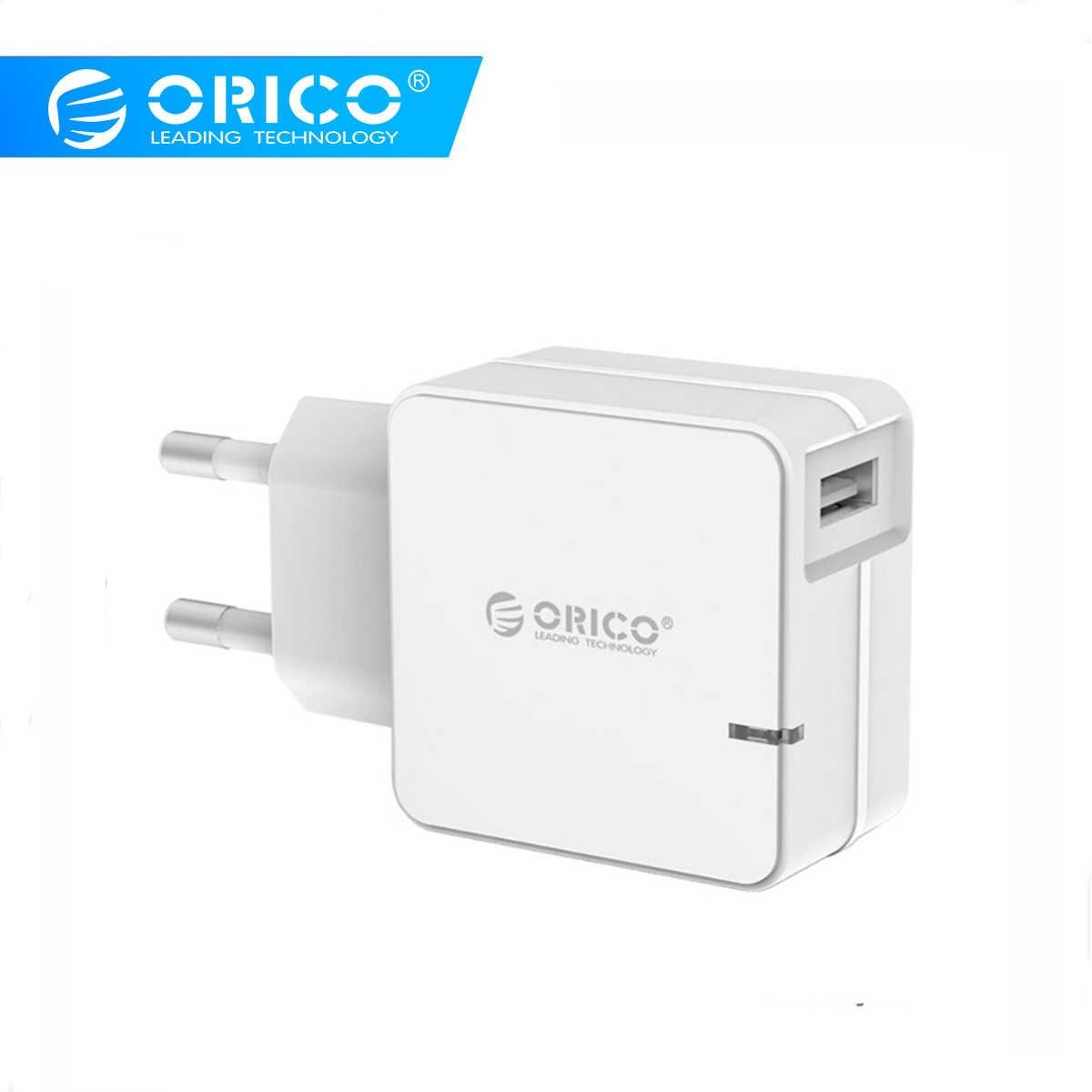 Orico QCW-1U Pengisian Cepat 2.0 Cepat Ponsel Usb Charger untuk Samsung S5 S6 LG dengan 80 Cm Micro USB kabel