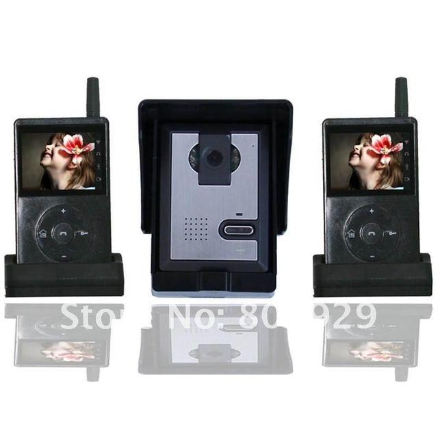 two screeen 2.4G video wireless door bell intercom home,Built-in Surveillance Mode Function