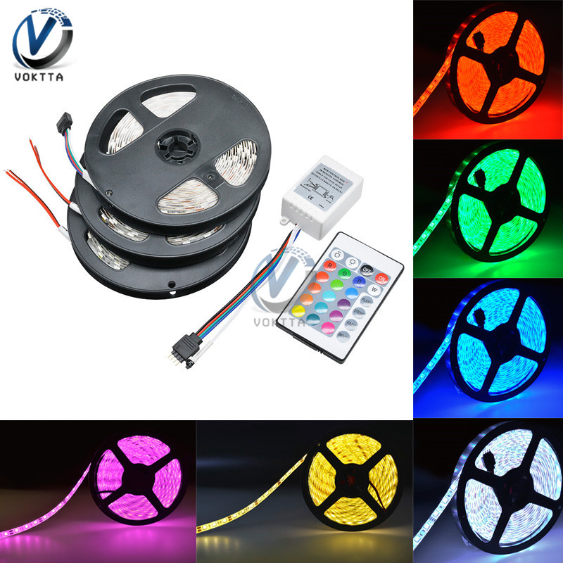 5 Meter Waterproof RGB Led Strip Light Tape 300Leds SMD <font><b>5050</b></font> DC 12V LED Strip Lighting Diode Ribbon Tape Flexible 5M <font><b>10</b></font> Colors image
