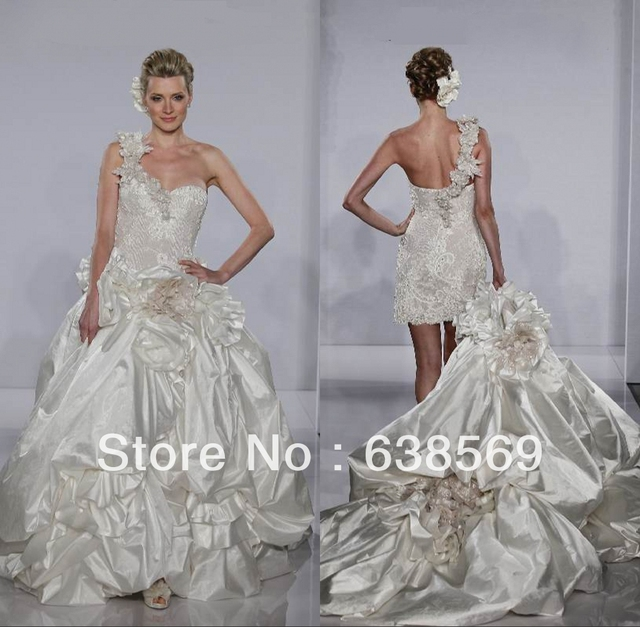 Fashion PninaTornai Bridal Taffeta Victorian Puffy Ball Gown ...
