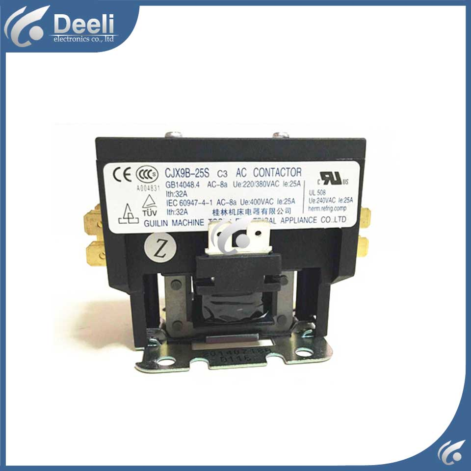 цена на Air conditioning parts CJX9B-25S CJX9B-25S/D Guilin machine AC contactor 220V25A