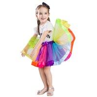 Saia Da Menina do bebê Crianças Tutu Saias Íris Anágua Venda Quente Pettiskirt Tutu Partido Custume Dança Do Casamento Bowknot Saia 2017