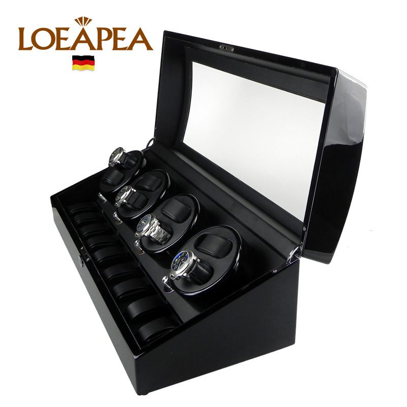 HIGH END Watch winder 8 + 9 Automatic watches chain winder trä Reel - Tillbehör klockor - Foto 2