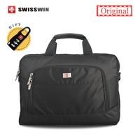 Swisswin Briefcase Men 11 13 3 14 Inches Laptop Briefcase Big Shoulder Messenger Bag Men Computer
