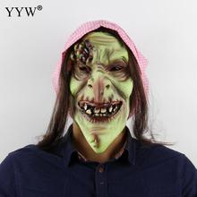 Long Hair Ghost Masker Prop Horror Mask For Halloween Scary Witch Zombie Masks Realistic Masquerade Maske Mascara
