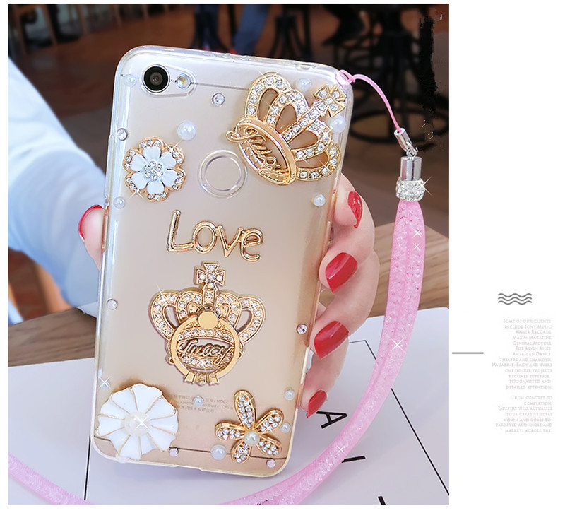 2019 New Style Fashion Luxury Girl Woman Lady 3d Diamond Rhinestone Phone Case For Xiaomi Redmi 4x 4a 5a 6a Note 4 5 Mix 2s Max 2 5s 5c 5x Ring