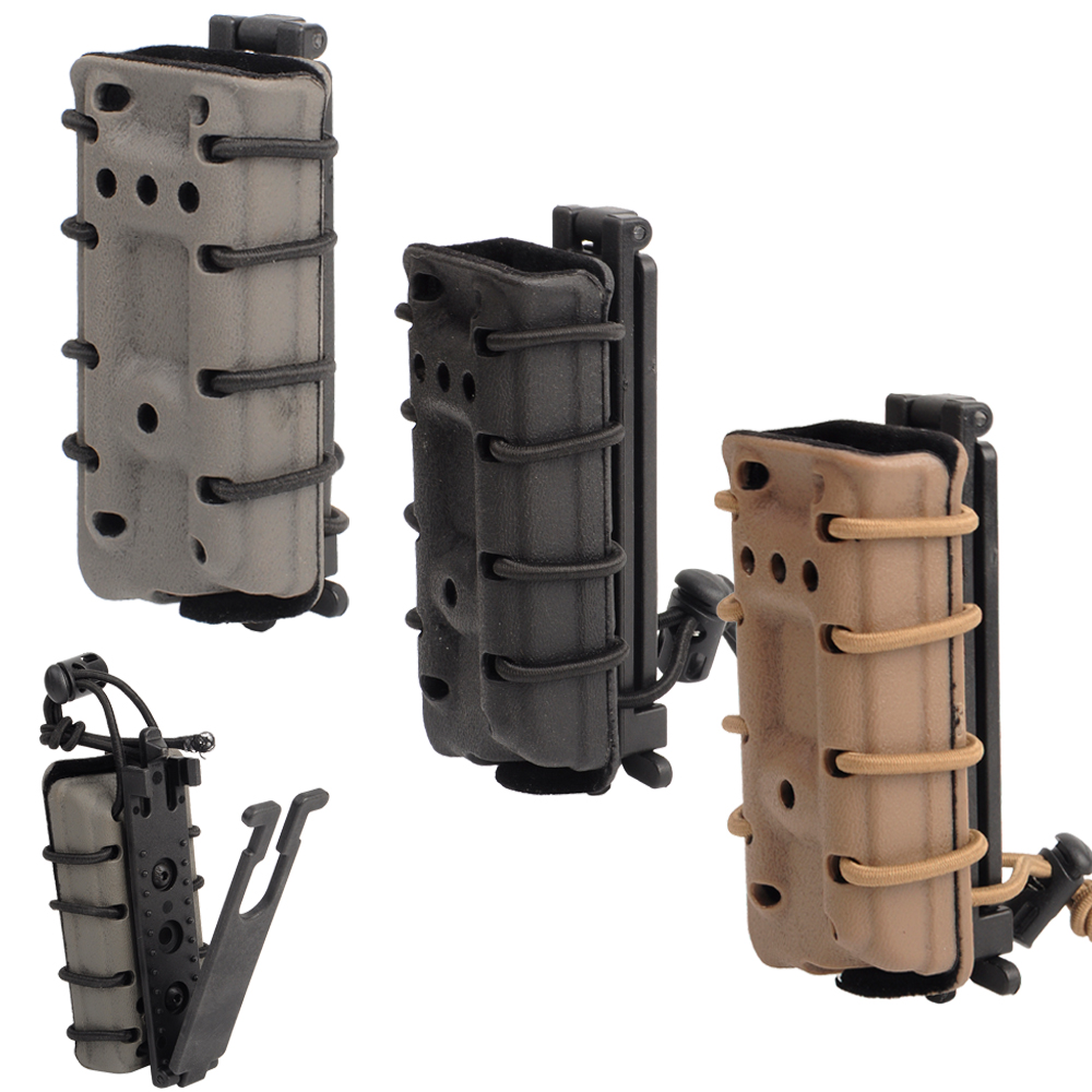 Tactical Military Single Rifle .45Cal Mag Pouch Army Hunting ACP Molle Magazine Flocking Protection Pouch
