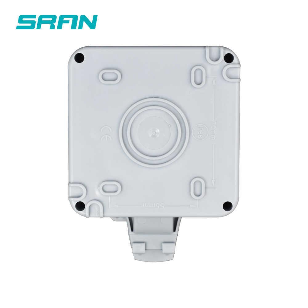SRAN IP66 עמיד עמיד למים חיצוני תיבת קיר שקע 16A לשקע האיחוד האירופי עם USB הכפול טעינת נמל חיצוני התקנה