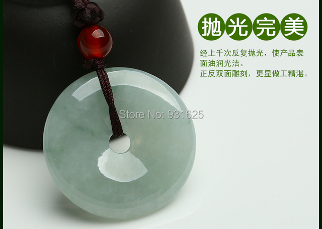 Natural Genuine myanmar jadeite jade cargo floating Burma  Safety Buckle Peace and Lucky Wishes Preyer pendants Necklace