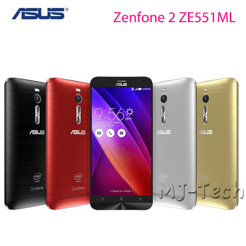 Tempered Glass screen +Original ASUS Zenfone 2 ZE551ML 4G FDD LTE Android 5.0 Quad Core 5.5 Inch IPS 1920x1080 Mobile Phone