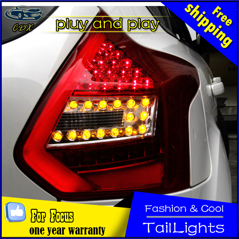 Car Styling Tail Lamp for Ford Focus Tail Lights 2012-2014 Focus 3 LED Tail Light Rear Lamp LED DRL+Brake+Park+Signal Stop Lamp