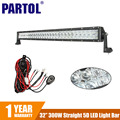 "CREE Chips 300W 32"" 5D LED Light Bar Work Light for Car ATV SUV Auto LED Bar 12V 24V 4X4 Offroad Driving Light Bar Combo Beam"
