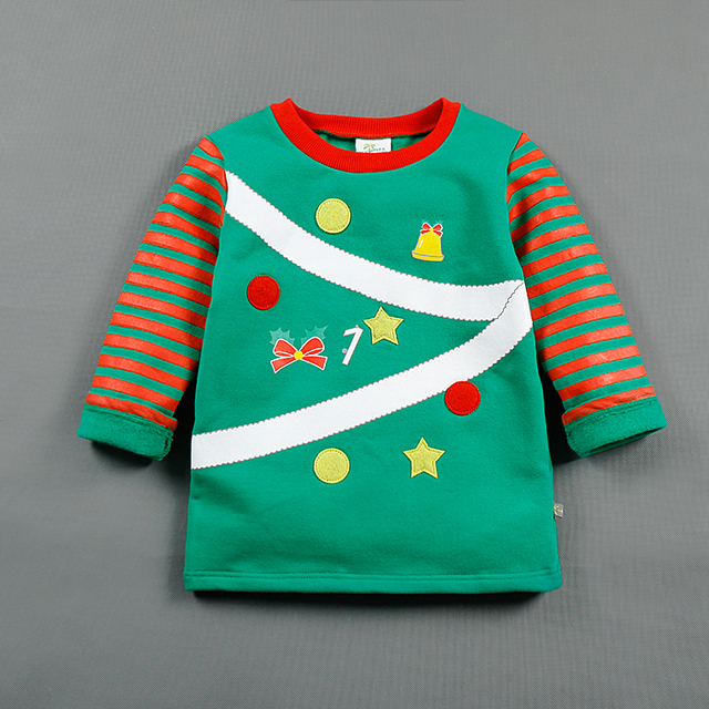 5fca18e5643 Cute Babys Christmas Sweatshirts Cotton Tops Cute Kids Winter Jumper Tee  Christmas Claus Elk Pattern Tops