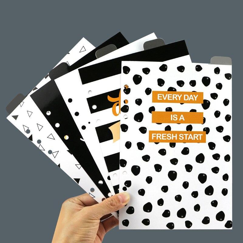 New Cute Creative Handmade 6 Holes Binder Planner Spiral Notebook Inside Organizer Pouch Accessories Stationery A5 A6