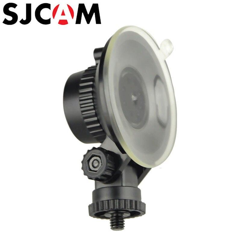 Sjcam sj4000 Accesorios coche Sucker holder soporte de succión 360 grados girar para xiaomi Yi sj5000 M10 M20 sj6 sj7 eken H9 h9r