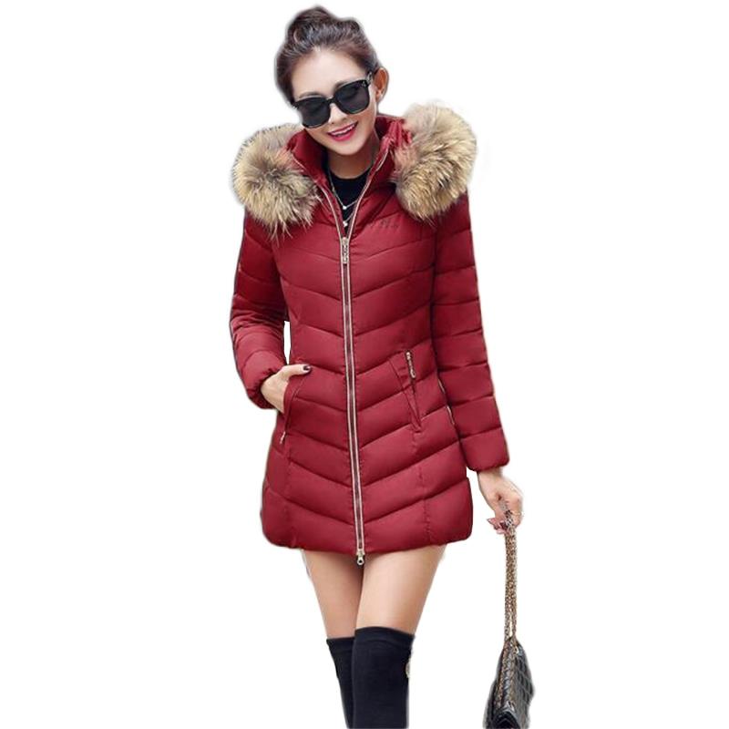 ФОТО TYJTJY Winter Jacket Women 2017 Winter New Fashion Women's Jacket High Quality Fur collar Slim Hooded Jacket Warm Parka Femme