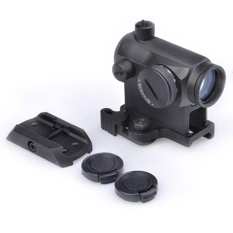 Aim T-1 Red Green Dot Sight With QD Mount & Low Mount Tactical Airsoft RifleScope Hunting Shooting Scope AO5029 utg 4 2 ita red green cqb dot sight scope tactical with qd mount riser adaptor scp ds3840w hunting equipment