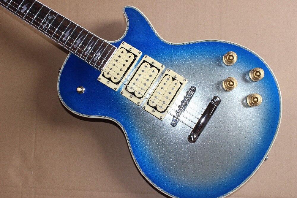 2017 Sale Limited 22 Chinese Electric Guitars Ukelele Ustom Shop Ace Frehley Lp 3 Pickups Body Signature Inlay Custom