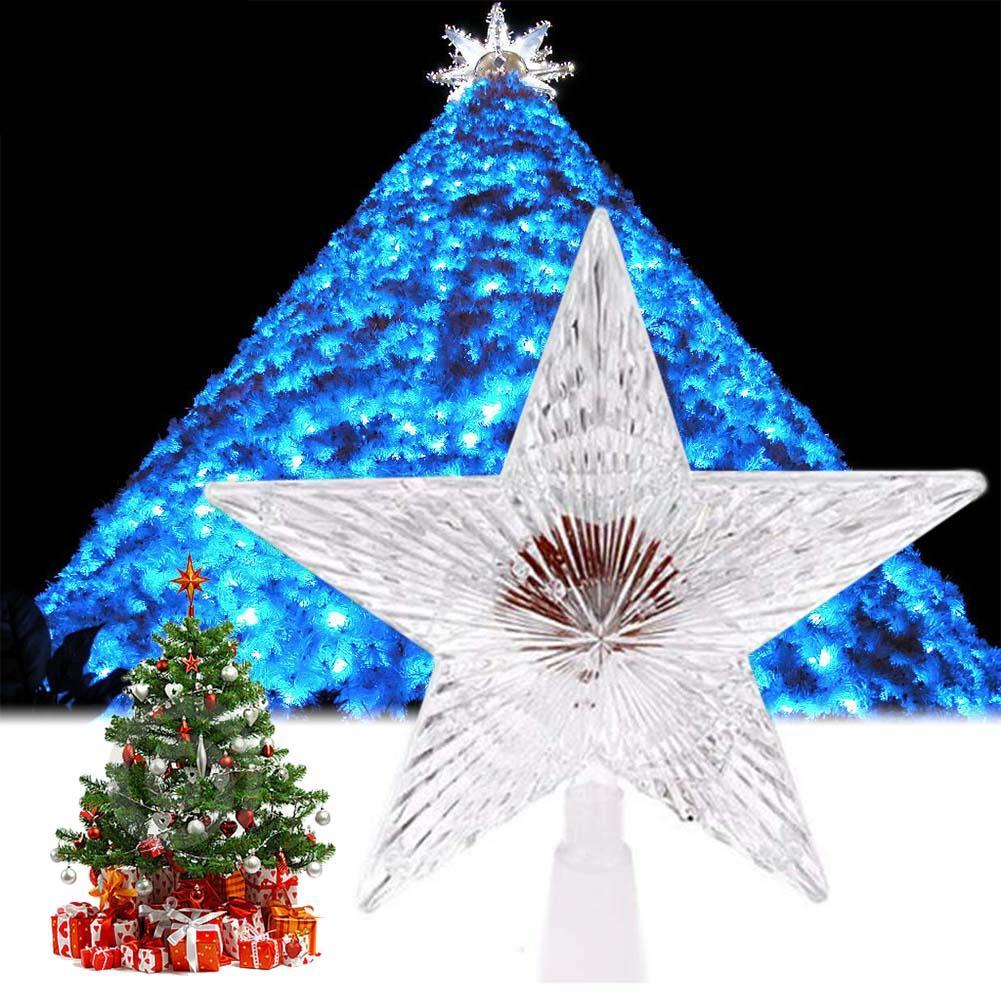 Colorful Changing Xmas Christmas Tree Topper Star Light LED Lamp ...