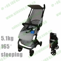 Pockit Stroller Pram Mini Baby Buggy 165 sleeping with footrest extension