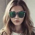 2016 Chegada Nova V Marca Cateye Óculos De Sol Feminino Estilo Coreano Brilhante Cor Googles Óculos De Sol Reflexivo