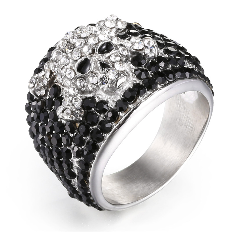 Johnny Hallyday vintage rock punk skull rings for men woman jewelry 316 stainless steel hip hop
