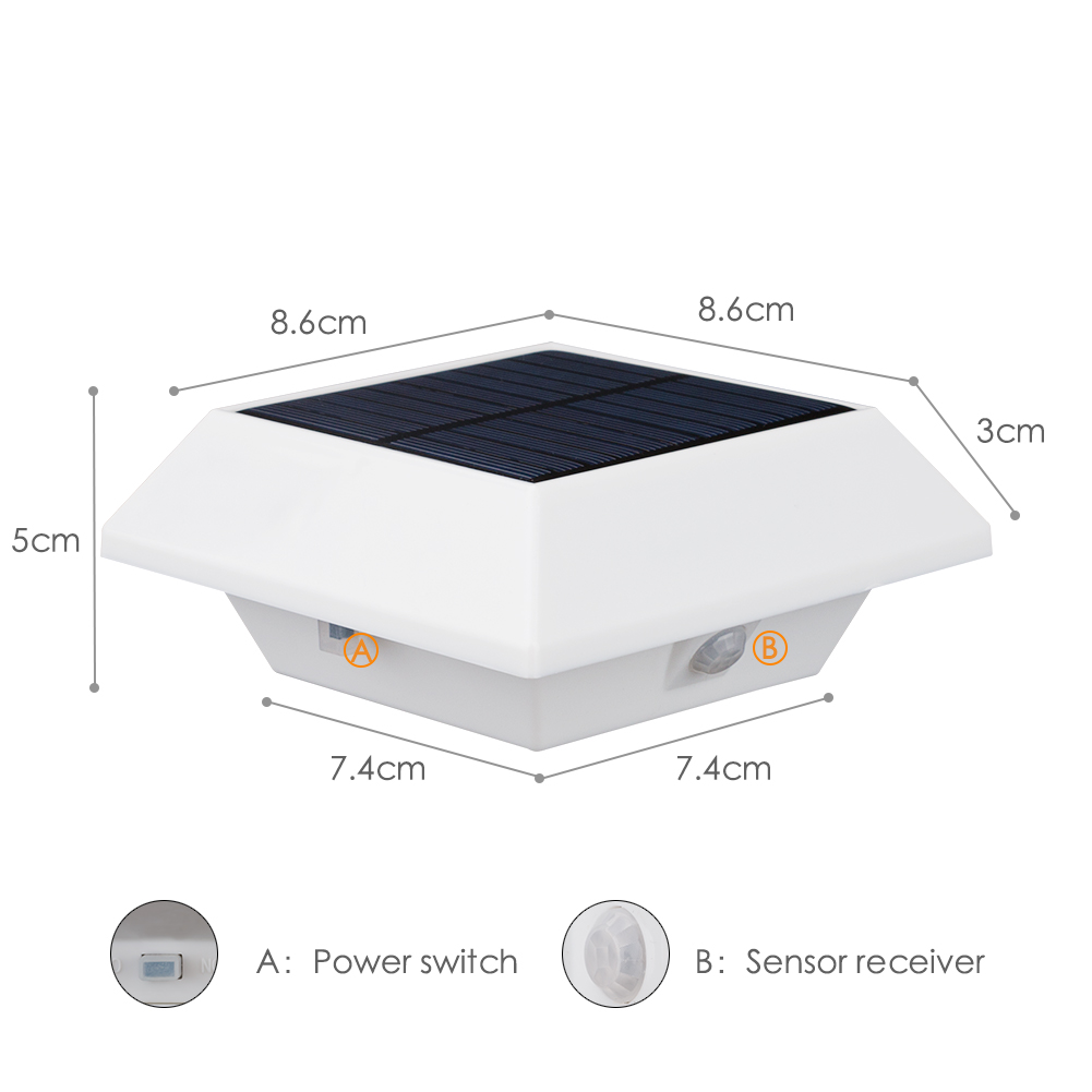 4/6 LED Solar Lamp Garden Light Outdoor Wireless Solar Lighting LED PIR Motion Sensor Eaves Lamps For Garden Outdoor Lights