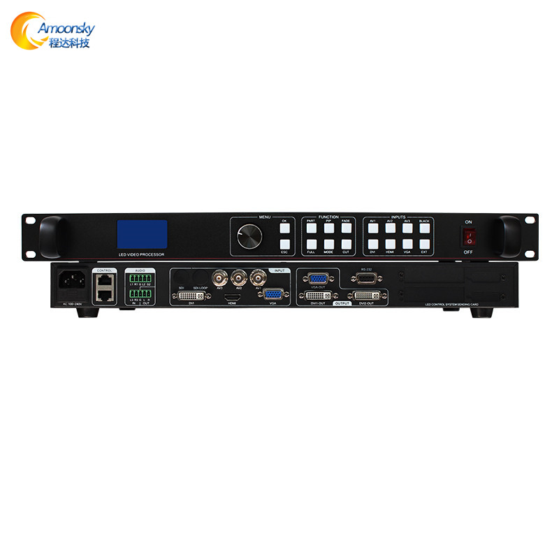 vga video input switcher led wall screen lvp613 full color hd processor with sending card receiving card for led video display