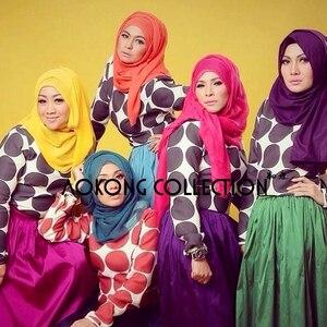 Image 5 - 10pcs/lot women solid maxi scarves hijab stole oversize islamic shawls foulard head wraps soft long muslim viscose plain hijabs