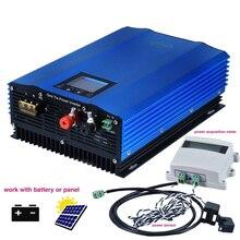 1200 Вт Сетка галстук инвертор с ограничителем, ЖК-дисплей режим разряда батареи Солнечная панель сетка галстук Miscro инвертор