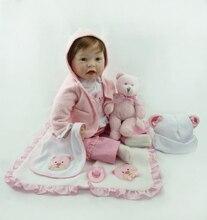 55 cm Gorąca sprzedaż tani dolar Victoria adora Realistyczne noworodków bonecas bebe kid toy sexy girl miękkie silikonowe reborn baby lalki