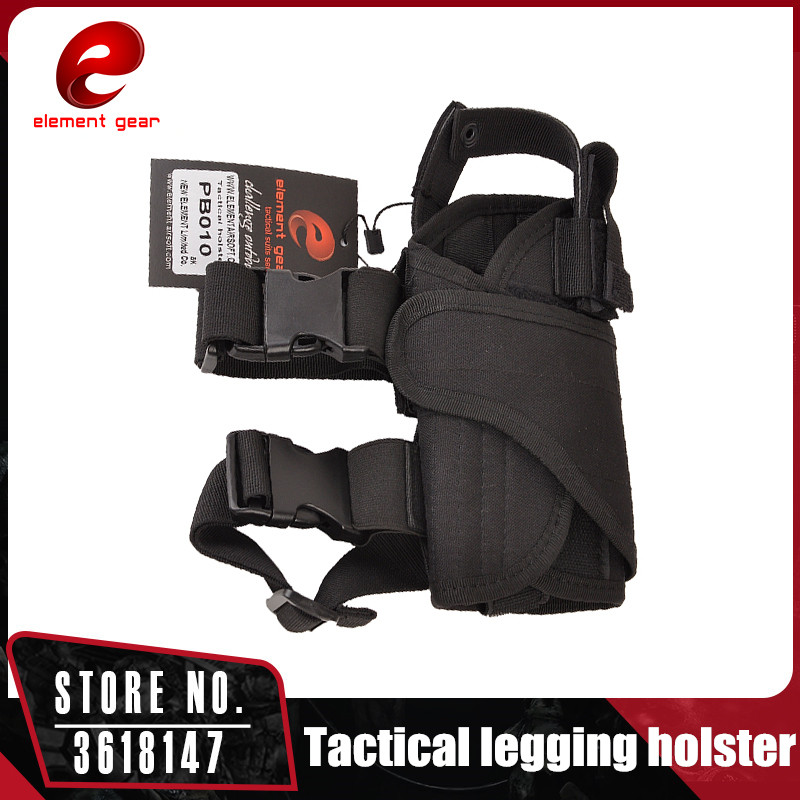 Element Tactical Universal Polyester Leg Holster Military Shooting Adjustable Waistband Right Left Pistol Pouch 56*5*10CM PB010