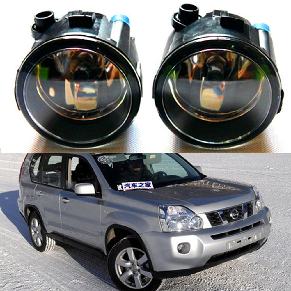 For NISSAN X-Trail T31 Closed Off-Road Vehicle 2007-2014 high brightness Front bumper halogen fog lights Car styling set j40 black steel different trail front bumper w winch plate