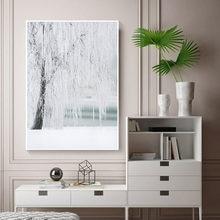 Настенная картина зимняя сцена пейзаж холст живопись горы плакаты