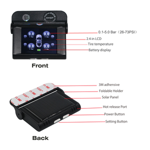 Image 4 - EANOP S368 الشمسية TPMS 2.4 TFT LCD سيارة نظام مراقبة ضغط الإطارات 4 قطعة أجهزة الاستشعار الخارجية الداخلية إنذار للسيارات العالمي