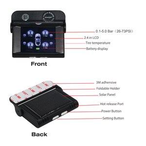 Image 4 - EANOP S368 solaire TPMS 2.4 TFT LCD voiture système de surveillance de la pression des pneus 4 pièces capteurs externes internes alarme pour voitures universelles