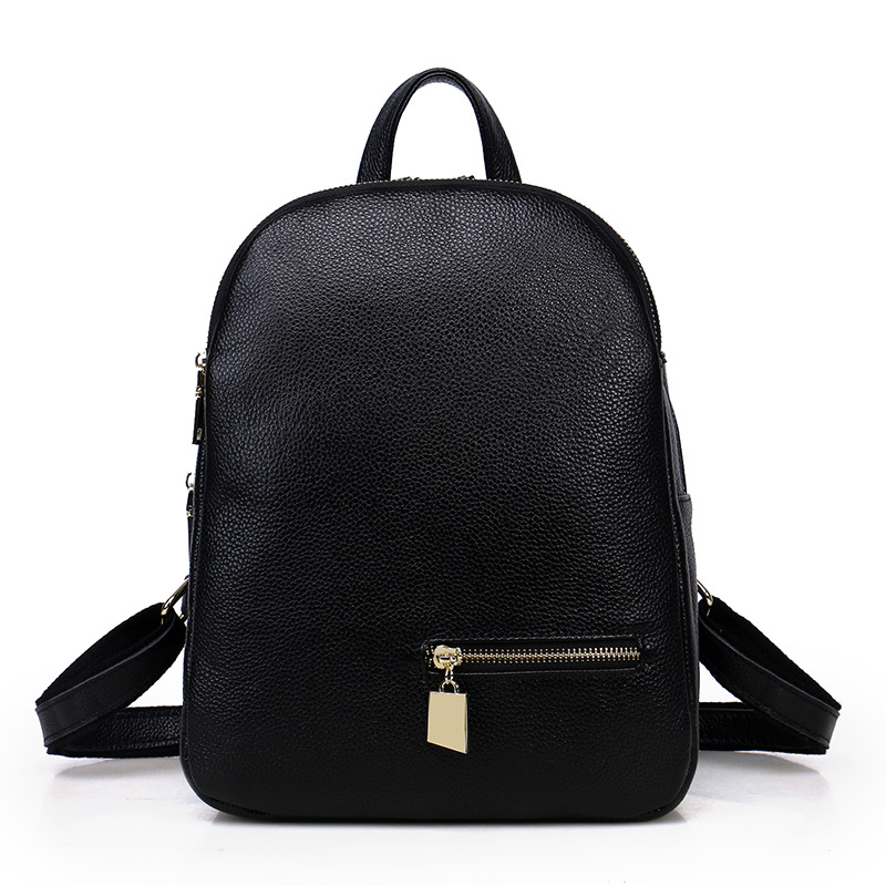 2017 high quality genuine cowhide leather women backpacks large capacity teenager girls school bags female shoulder travel bags