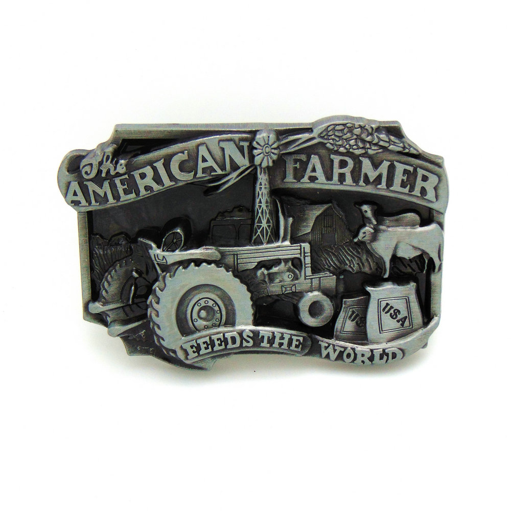 2017 Luxury Fashion Cowboy Metal Tool Belt Buckle AMERICAN FARMER