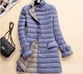 Inverno quente emagrecer mulheres jaqueta ultra light ultra-luz branca pato para baixo mulheres jaqueta de ultra longo para baixo casacos plus size fina