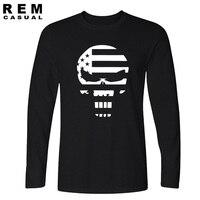Nieuwe Amerikaanse Sniper Chris Kyle Mannen Lange mouwen T-shirt Punisher schedel Navy Seal Team Legend Gedrukt Mode grappige hiphop Casual
