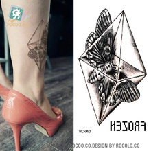 RC-060 Fashion Temporary Tattoo Stickers Beauty Body Art Butterfly In Crystal Fake Flash Taty Tattoo Water Transfer Tatuaje