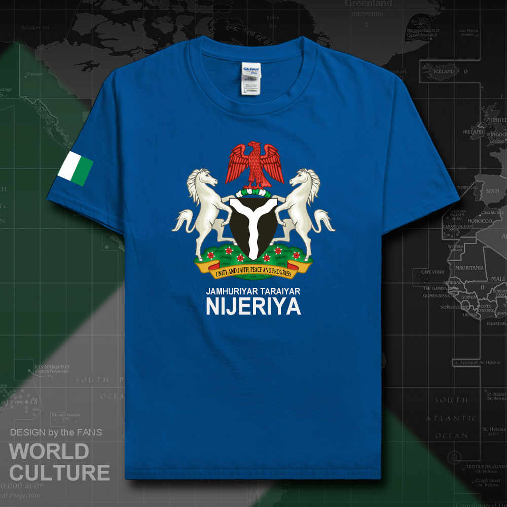 ניגריה Nijeriya גברים t חולצות גופיות האומה חולצת טי ספורט ניגרי 100% כותנה חולצה כושר בגדי tees המדינה NG 20