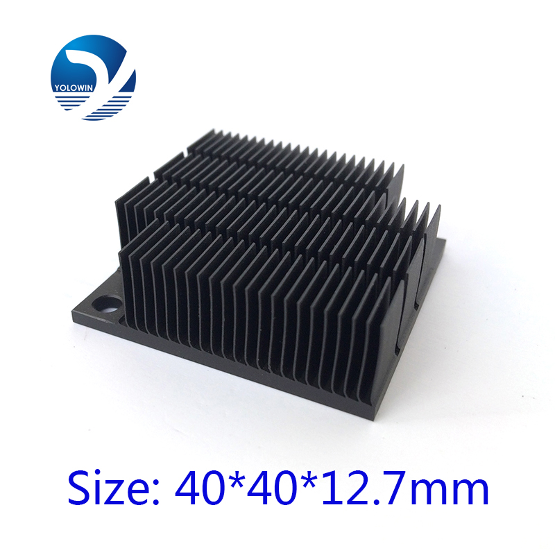 Aluminum HeatSink Heat Sink radiator for electronic Chip LED RAM COOLER cooling 40*40*12.7mm Aluminum High Quality YL-0030 image