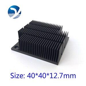Image 1 - Disipador de calor de aluminio radiador para Chip electrónico LED RAM refrigerador 40*40*12,7mm de aluminio de alta calidad YL 0030