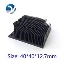 アルミヒートシンクラジエーター電子チップled ramクーラー冷却 40*40*12.7 ミリメートルアルミ高品質YL 0030